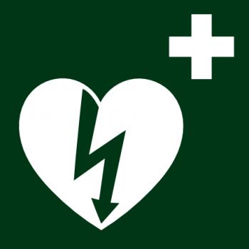 AED-Hinweiskleber