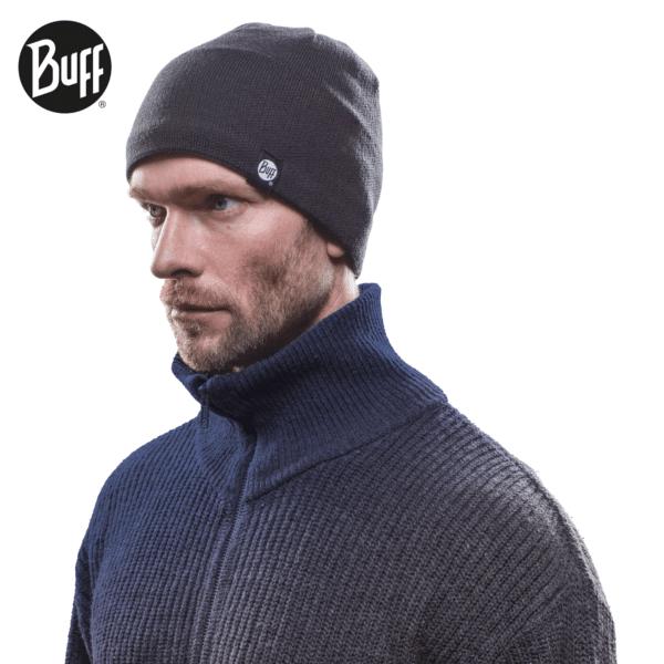 buff knitted-polar-hat-buff schwarz face ... ff3c22023f2