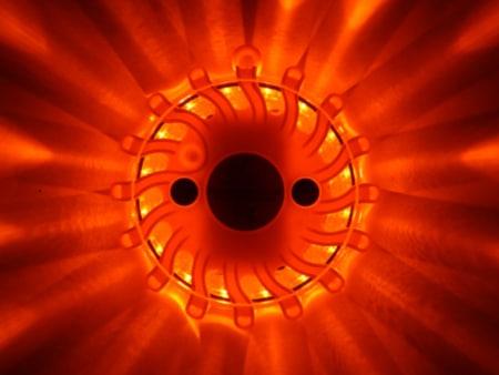 LED Blitzer Orange ON