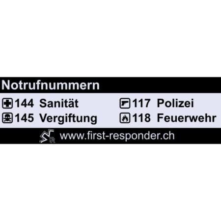 Notrufnummern-Aufkleber