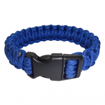 Paracord Armband blau XL_closed