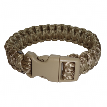Paracord Armband coyote XL_closed