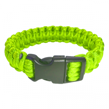Paracord Armband hellgrün XL_closed