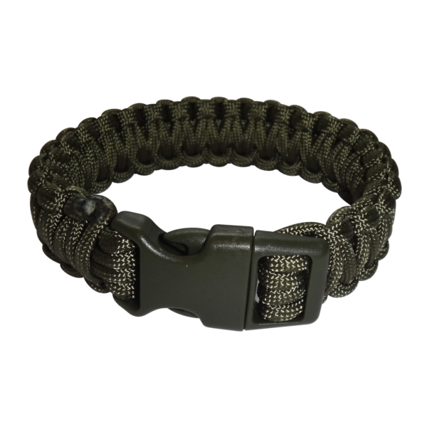 Paracord Armband oliv XL_closed