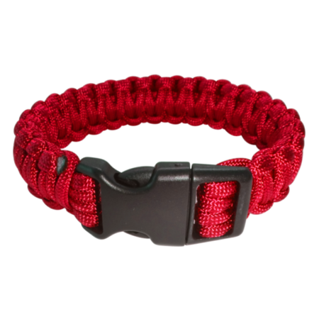 Paracord Armband rot XL_closed