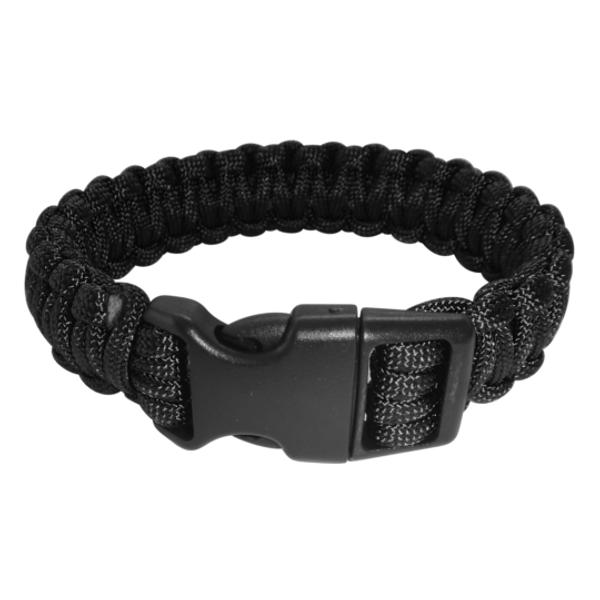 Paracord Armband schwarz XL_closed
