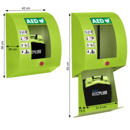 SixCase SC1330_Abmessungen AED-Wandkasten