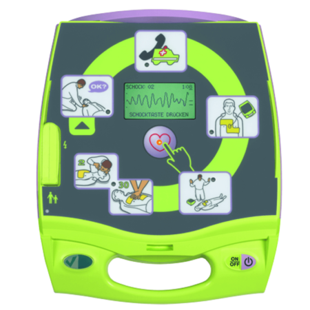 Defibrillator ZOLL AED Plus CPR open